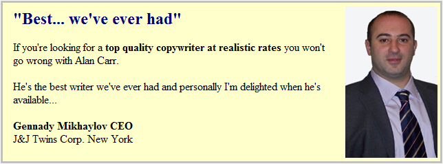 Another copywriter testimonial